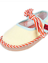 Недорогие -Девочки Обувь Хлопок Весна & осень Обувь для малышей На плокой подошве Бант для Дети (1-4 лет) Желтый