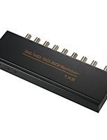 billiga -sdi splitter 1x2 1x4 1x8 1080p sdi-omvandlare långt avstånd upp till 300 meter med nätadapter