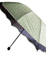 Недорогие -Полиэстер Все Солнечный и дождливой / Новый дизайн Складные зонты