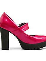 abordables -Femme Escarpins Polyuréthane Printemps Chaussures à Talons Talon Bottier Noir / Fuchsia / Bourgogne