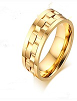 cheap -Men's Stylish Midi Ring - Titanium Steel Creative Fashion 7 / 8 / 9 / 10 / 11 Gold / Silver / Gold / Black For Party Daily