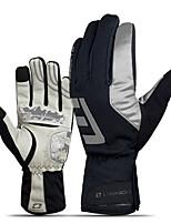 Недорогие -Спортивные перчатки Перчатки для велосипедистов / Перчатки для сенсорного экрана Сохраняет тепло / Пригодно для носки / Дышащий Полный палец Ластик / силикагель / сверхтонкие волокна