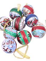 Недорогие -Орнаменты Новогодняя тематика пластик Круглый Мультипликация Рождественские украшения