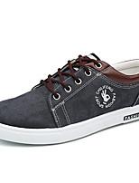 Недорогие -Муж. Комфортная обувь Полотно Осень На каждый день Кеды Дышащий Черный / Серый / Светло-синий / на открытом воздухе