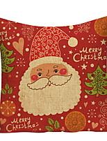 baratos -Cobertura de Almofada Natal / Férias Poliéster Rectângular Novidades Decoração de Natal