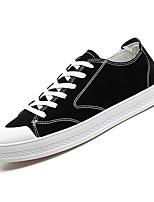 Недорогие -Муж. Комфортная обувь Свиная кожа / Полиуретан Осень На каждый день Кеды Нескользкий Черный / Серый