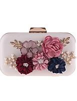 cheap -Women's Bags PU(Polyurethane) / Alloy Evening Bag Appliques / Pearls White / Blushing Pink
