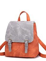 Недорогие -Жен. Мешки PU рюкзак Молнии Оранжевый / Розовый / Серый