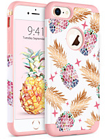 abordables -Coque Pour Apple iPhone 8 / iPhone 7 Antichoc / IMD / Motif Coque Plantes / Fruit Flexible PC / Le gel de silice pour iPhone 8 / iPhone 7
