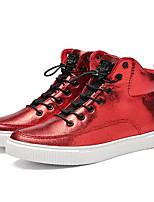 Недорогие -Муж. Комфортная обувь Полиуретан Осень На каждый день Кеды Дышащий Серебряный / Красный / Черный / Желтый