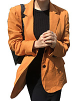 cheap -women's blazer-solid colored notch lapel