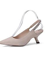 Недорогие -Жен. Комфортная обувь Замша Весна Обувь на каблуках На шпильке Черный / Синий / Миндальный