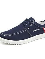 Недорогие -Муж. Комфортная обувь Полотно Осень На каждый день Кеды Дышащий Черный / Темно-синий / Светло-синий