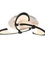 abordables -3-têtes style moderne simplicité acrylique led plafonnier crochet design design encastré montage salon salle à manger luminaire