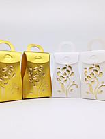 baratos -Cubóide Papel papelão Suportes para Lembrancinhas com Estampa Caixas de Presente - 25pçs