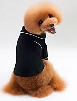 baratos -Cachorros / Gatos Pijamas / Camisetas Roupas para Cães Sólido Preto Terylene Ocasiões Especiais Para animais de estimação Unisexo Casual / Estilo simples