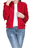 cheap -Women's Street chic Jacket - Solid Colored