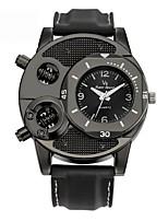 Недорогие -Муж. Спортивные часы Кварцевый Cool силиконовый Группа Аналого-цифровые На каждый день Черный - Черный