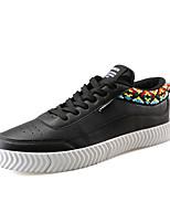 Недорогие -Муж. Комфортная обувь Полиуретан Осень На каждый день Кеды Дышащий Белый / Черный / Черно-белый