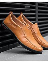 baratos -Homens Sapatos Confortáveis Microfibra Primavera & Outono Mocassins e Slip-Ons Preto / Castanho Claro / Castanho Escuro