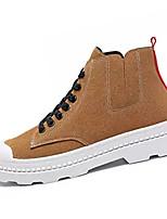 Недорогие -Муж. Комфортная обувь Полиуретан Осень На каждый день Кеды Дышащий Черный / Серый / Хаки