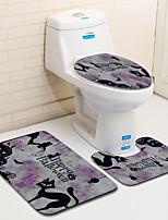 Недорогие -3 предмета Мультяшная тематика Коврики для ванны 100 г / м2 полиэфирный стреч-трикотаж Новинки / Животное нерегулярный Новый дизайн / обожаемый