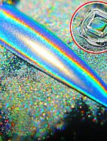 preiswerte -1 pcs Glitzer Farbverlauf / Hohe Qualität, formaldehydfrei Romantische Serie Regenbogen Nagel Kunst Maniküre Pediküre Weihnachten / Maskerade / Festival Künstlerisch / Adelige Lolita