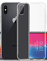 baratos -Capinha Para Apple iPhone XR / iPhone XS Max Transparente Capa traseira Sólido Macia TPU para iPhone XS / iPhone XR / iPhone XS Max