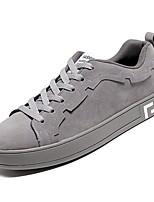 Недорогие -Муж. Комфортная обувь Полиуретан Осень Кеды Черный / Серый / Миндальный