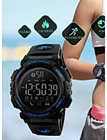 baratos -SKMEI Homens Relógio Esportivo Relógio Militar Automático - da corda automáticamente 50 m Impermeável Bluetooth Calendário PU Banda Digital Luxo Casual Preta / Verde - Preto Azul