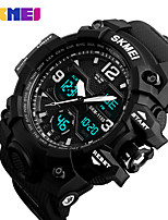 cheap -S KMEI Men's Sport Watch Wrist Watch Japanese Japanese Quartz 30 m Water Resistant / Water Proof Calendar / date / day Chronograph Silicone Band Analog-Digital Casual Fashion Black / Khaki - Black