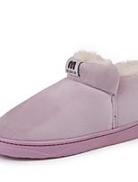 Недорогие -Жен. Комфортная обувь Синтетика Зима Ботинки На плоской подошве Серый / Коричневый / Розовый