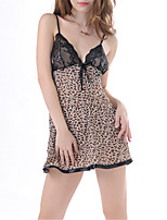 cheap -Women's Suits Nightwear - Lace / Mesh, Solid Colored / Leopard