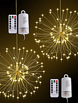 cheap -ZDM® 0.2m String Lights 120 LEDs SMD 0603 1 13Keys Remote Controller Warm White Waterproof / New Design / Decorative AA Batteries Powered 2pcs