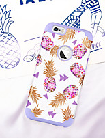 abordables -Coque Pour Apple iPhone 6 / iPhone 6s Antichoc / IMD / Motif Coque Plantes / Fruit Flexible PC / Le gel de silice pour iPhone 6s / iPhone 6