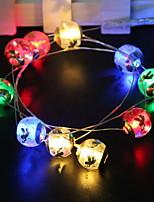 Недорогие -1,5 м Гирлянды 10 светодиоды Разные цвета Новый дизайн / Декоративная / Cool Аккумуляторы AA