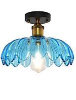 Недорогие -северная Европа современный стеклянный потолок винтаж творческий лотос форма стекло гостиная столовая прихожая потолочный светильник