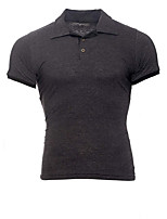 cheap -Men's Business / Basic Polo - Color Block Black & Gray