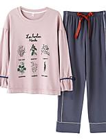 cheap -Women's Round Neck Suits Pajamas Galaxy
