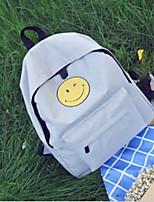 Недорогие -Жен. Мешки холст рюкзак Молнии Черный / Светло-серый