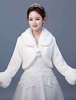 cheap -Long Sleeve Faux Fur Wedding / Party / Evening Women's Wrap With Lace-up Coats / Jackets