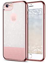 Недорогие -Кейс для Назначение Apple iPhone 8 / iPhone 7 Покрытие / Ультратонкий / Сияние и блеск Кейс на заднюю панель Однотонный Мягкий ТПУ / ПК для iPhone 8 / iPhone 7 / iPhone 6s