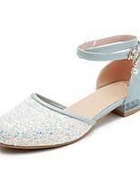 abordables -Femme Chaussures de confort Polyuréthane Eté Chaussures à Talons Talon Plat Noir / Bleu / Rose