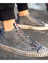 Недорогие -Муж. Комфортная обувь Полотно Весна лето На каждый день Кеды Черный / Серый / Хаки