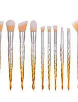 billiga -10-Pack Makeupborstar Professionell Rougeborste / Ögonskuggsborste / Läppensel Nylon fiber Fullständig Täckning Plast