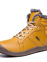 Недорогие -Жен. Комфортная обувь Кожа Зима На каждый день Ботинки На плоской подошве Серый / Синий / Хаки