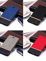 billiga -fodral Till Apple iPhone X / iPhone 8 Plånbok / Korthållare / med stativ Fodral Enfärgad Hårt PU läder för iPhone X / iPhone 8 Plus / iPhone 8