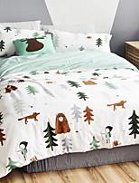 Недорогие -рождественское одеяло покрывает геометрические 100% хлопок реактивной печати 4 шт.