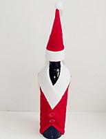baratos -Sacos e Transportadores de Vinho Natal / Férias Tecido de Algodão Cubo Festa / Novidades Decoração de Natal