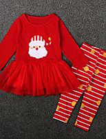 cheap -Kids / Toddler Girls' Striped Long Sleeve Clothing Set